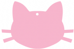 Cat Face Bauble 90mm x 61mm Craft Blank